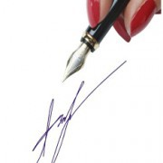 Клише факсимильной подписи